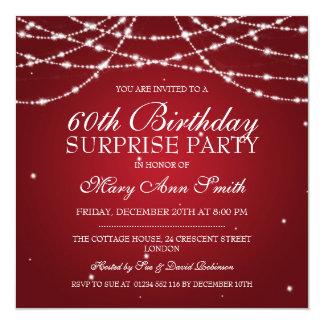 Cadena de fiesta de cumpleaños de la sorpresa de invitación 13,3 cm x 13,3cm