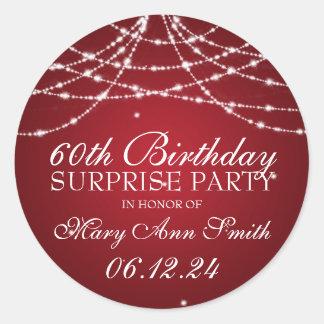 Cadena de fiesta de cumpleaños de la sorpresa de pegatina redonda