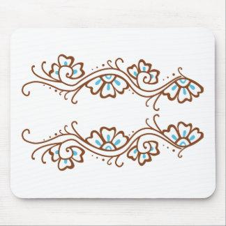 Cadena de flor de la alheña alfombrillas de raton