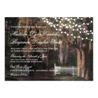 Cadena de invitaciones rústicas del boda del roble invitación 11,4 x 15,8 cm