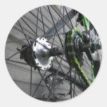 Cadena de la bici pegatina redonda
