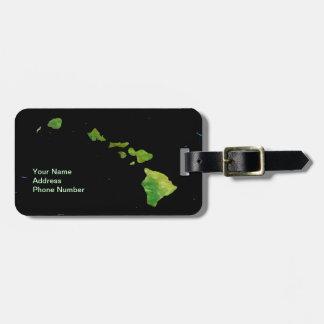 Cadena de la isla hawaiana en etiqueta del equipaj etiquetas maleta