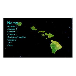 Cadena de la isla hawaiana en tarjeta de visita de
