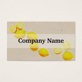 Cadena de limones en fondo del vintage tarjeta de negocios