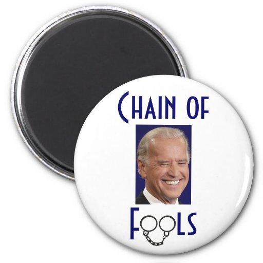 Cadena de los tontos - Joe Biden Imán Redondo 5 Cm