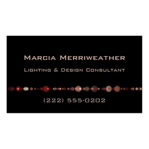 Cadena de luces plantillas de tarjetas personales