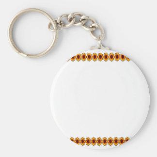 Cadena de margaritas 2 5x7 l los regalos de Zazzle Llavero Redondo Tipo Pin