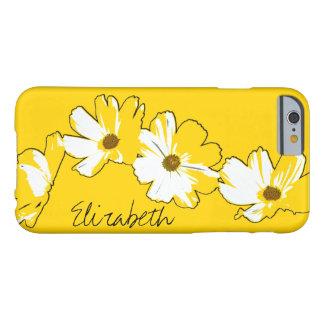 Cadena de margaritas amarilla personalizada funda para iPhone 6 barely there
