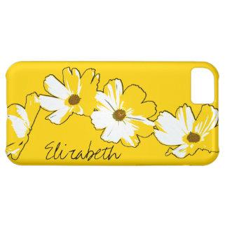 Cadena de margaritas amarilla personalizada funda para iPhone 5C
