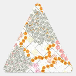 Cadena de margaritas de Boho Pegatina De Trianguladas