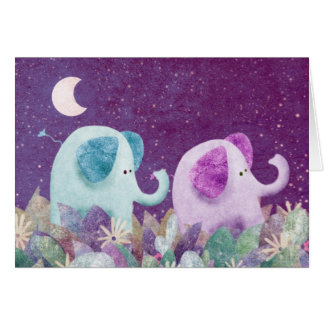 Cadena de margaritas de los elefantes - tarjeta de