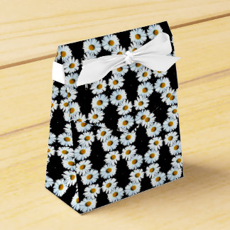 Cadena de margaritas querida en negro cajas para regalos de boda