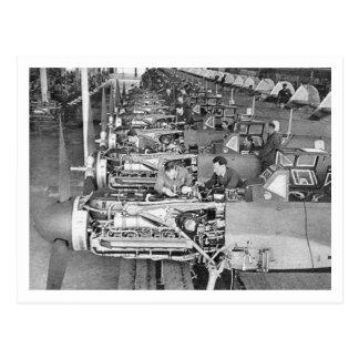 Cadena de producción de Messerschmitt Bf109 en Reg Tarjeta Postal