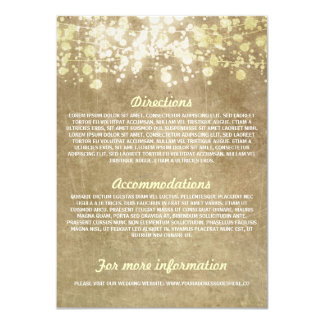Cadena de tarjetas de información rústicas del invitación 11,4 x 15,8 cm