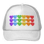 Cadena del arco iris de corazones con las estrella gorras de camionero