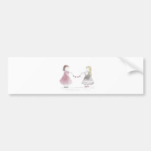 cadena del corazón (el día de madre) pegatina de parachoque