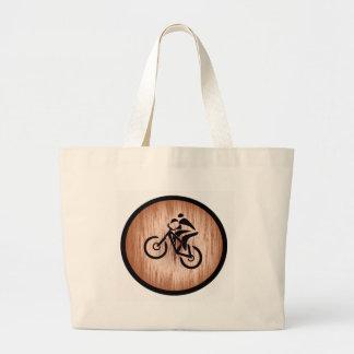 Cadena del desierto de la bici bolsa de tela grande