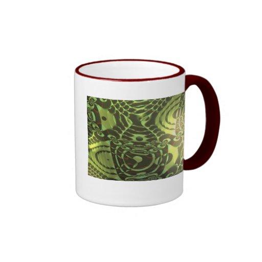 Cadena del lagarto taza de café