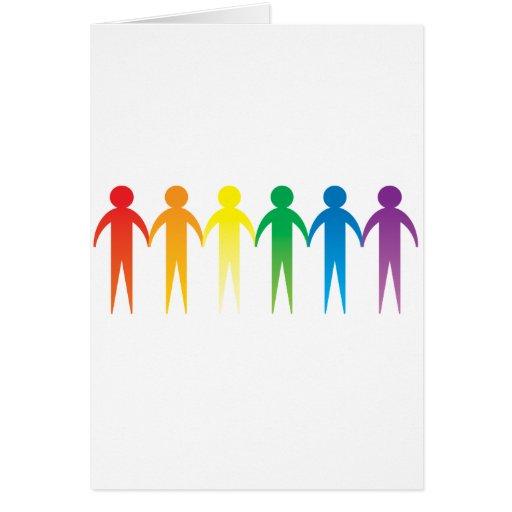 Cadena del orgullo tarjeta pequeña