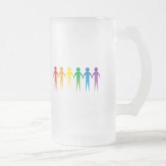 Cadena del orgullo taza cristal mate