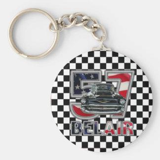 Cadena dominante 1957 de Chevy Belair Llavero Redondo Tipo Pin
