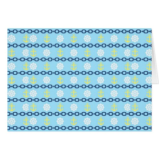 Cadena náutica tarjeta de felicitación
