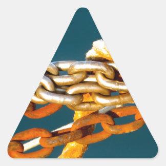 Cadena oxidada pegatina triangular