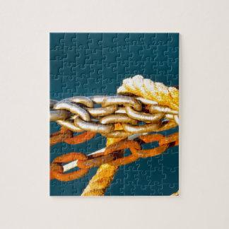 Cadena oxidada rompecabezas con fotos