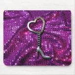 Cadena púrpura rosada de la plata del talón de Hig Tapetes De Raton