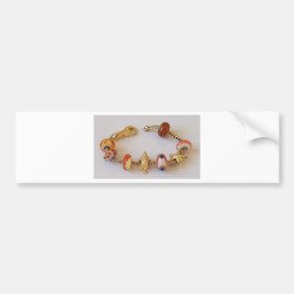 Cadena redonda de Goldish por la joyería de Melina Pegatina Para Auto