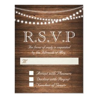 "Cadena rústica de luces RSVP 4,25"" x 5,5"" tarjeta Invitación 4.25"" X 5.5"""