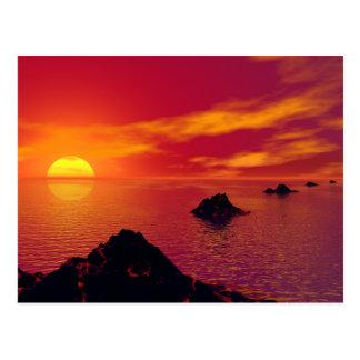 Cadena volcánica tarjetas postales