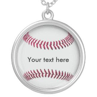 Cadena y colgante del béisbol (personalizado)