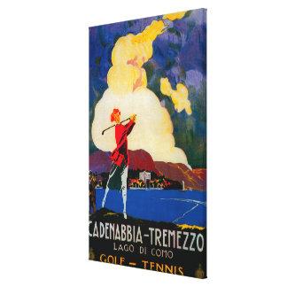 CadenabbiaTremezzo Vintage PosterEurope Canvas Print