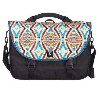 Cadenas abstractas multicoloras. Modelo geométrico Bolsas Para Portatil
