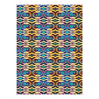 Cadenas abstractas multicoloras Modelo geométrico Comunicado Personalizado