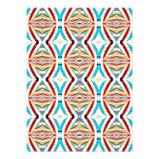 Cadenas abstractas multicoloras Modelo geométrico Invitación Personalizada