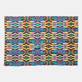 Cadenas abstractas multicoloras. Modelo geométrico Toallas De Cocina