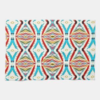 Cadenas abstractas multicoloras. Modelo geométrico Toalla De Mano