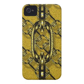 cadenas brillantes encantadoras de oro Case-Mate iPhone 4 protector