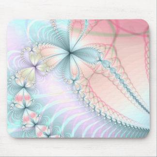 cadenas de flor en colores pastel tapete de ratón