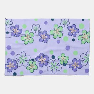 Cadenas de flor púrpuras toallas de cocina