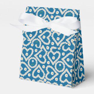 Cadenas de margaritas de encargo en el azul, caja cajas para regalos