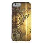 Cadenas de Steampunk y floral Funda De iPhone 6 Barely There