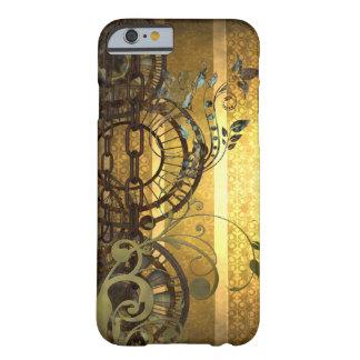 Cadenas de Steampunk y floral Funda Barely There iPhone 6