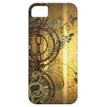 Cadenas de Steampunk y floral iPhone 5 Protectores