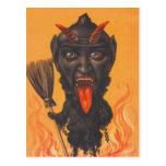 Cadenas del infierno de la escoba de Krampus Tarjeta Postal