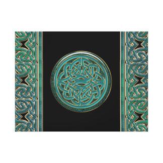 Cadenas del jade e impresión célticas de la lona lona envuelta para galerías
