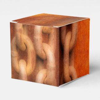 Cadenas oxidadas caja para regalos de fiestas