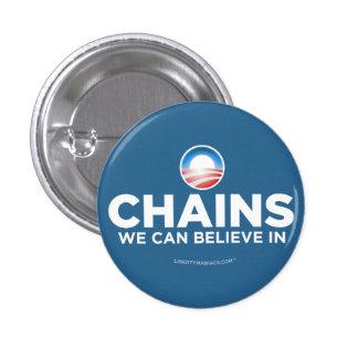 Cadenas que podemos creer en botón